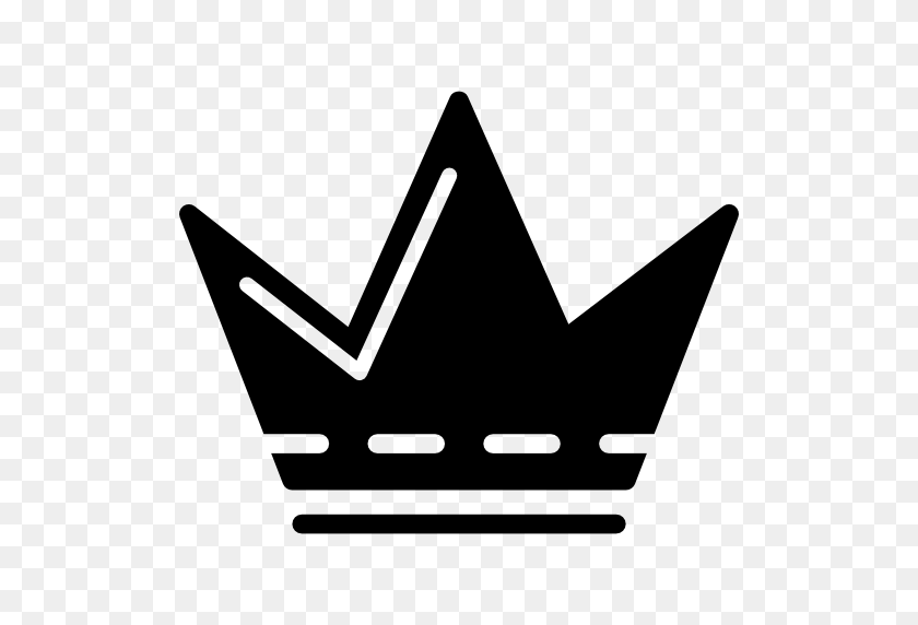 Royal Crown Silhouette With White Details And Pointed Tips - Crown Silhouette Clip Art