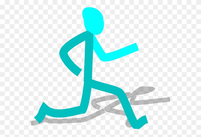 Runner Blue Clip Art - Marathon Runner Clipart