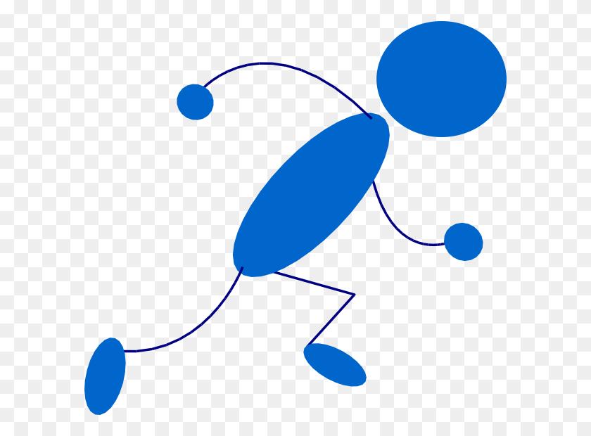 600x560 Running Blue Stick Man Clip Art Free Vector - Argentina Clipart