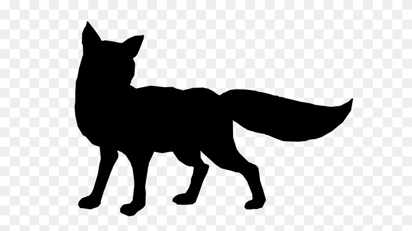 Running Fox Silhouette - Dog Running Clipart