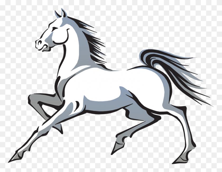 Running Horse Clip Art Intended For Horse Clipart - Running Clipart Free