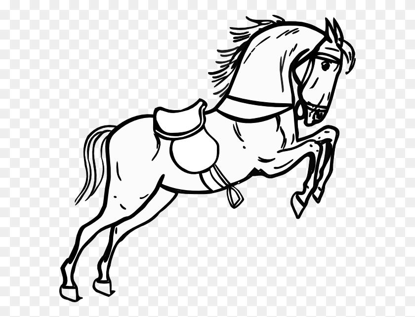Running Horse Outline - Running Horse Clipart