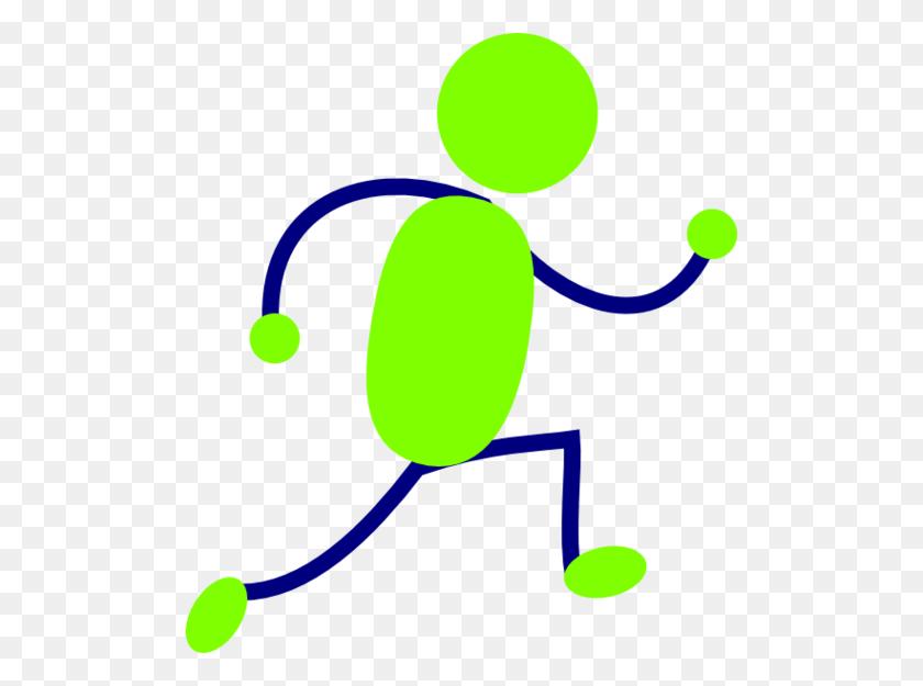 Running Man Clipart Blue - Running Man Clipart