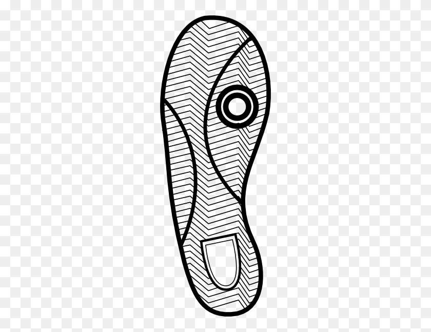 Running Shoe Print Clipart - Shoe Print Clipart
