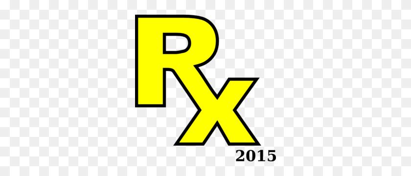288x300 Rx Symbol In Yellow Clip Art - Rx Clipart