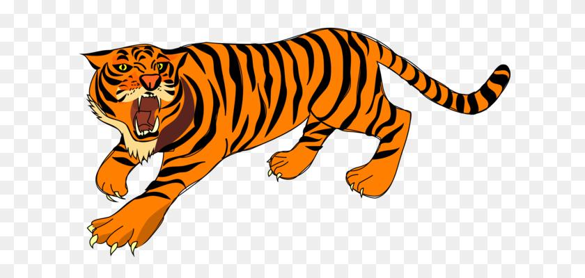 627x340 Saber Toothed Tiger Lion Cat Roar - Saber Tooth Tiger Clipart