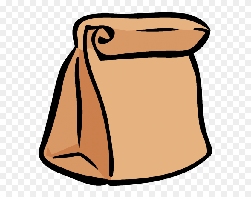 601x600 Sack Lunch Clip Art Black And White - Sack Lunch Clipart