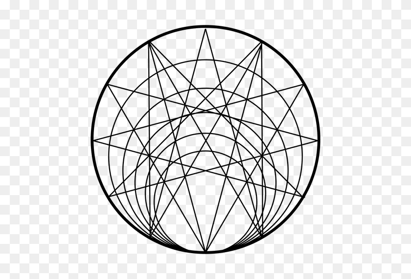 512x512 Sacred Geometry From Circle - Sacred Geometry PNG