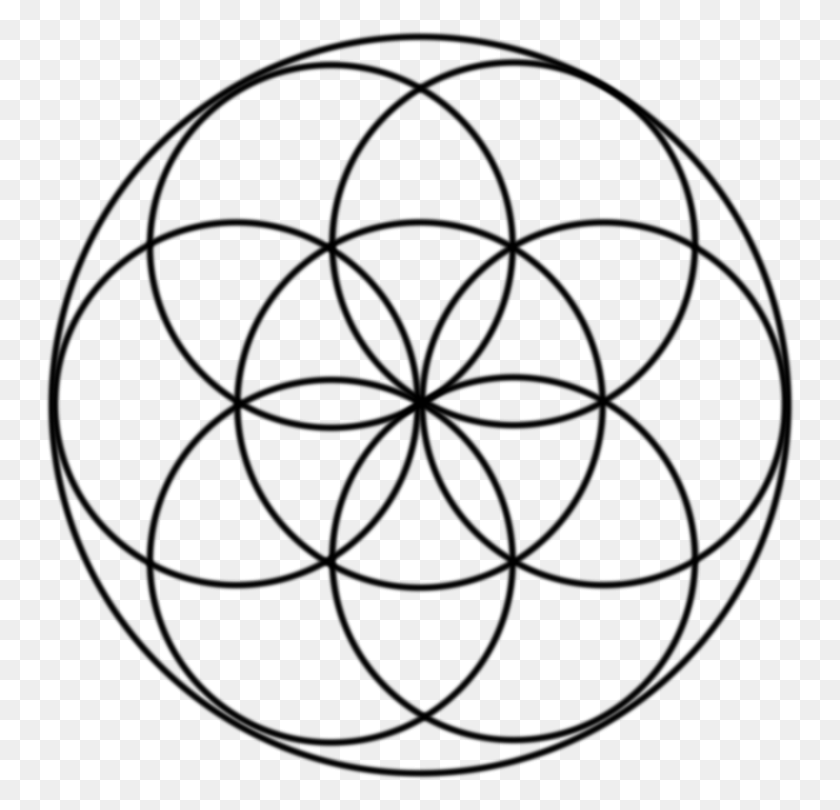 750x750 Sacred Geometry Overlapping Circles Grid Symbol - Sacred Geometry PNG
