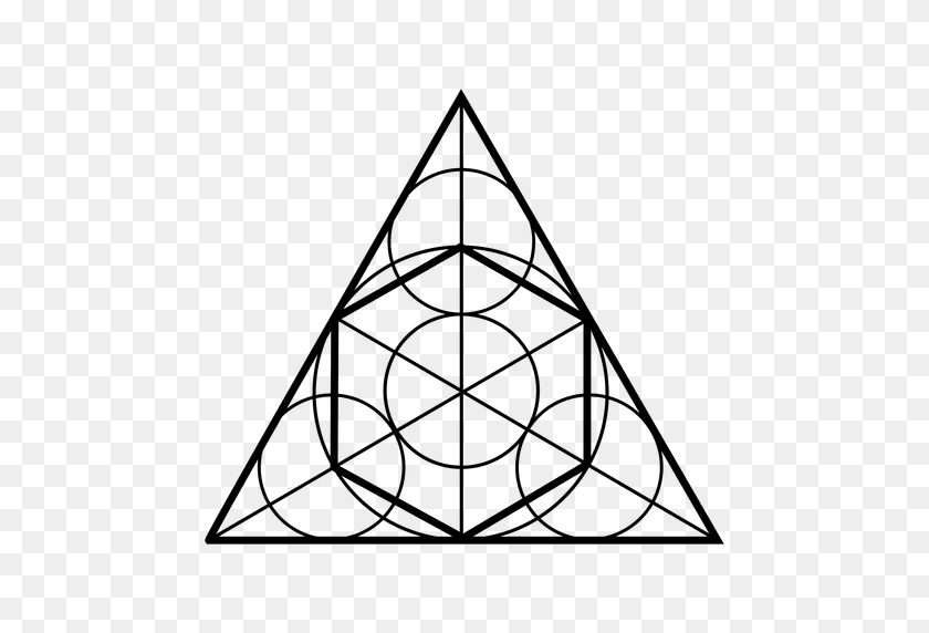 512x512 Sacred Geometry Shapes In Triangle - Sacred Geometry PNG
