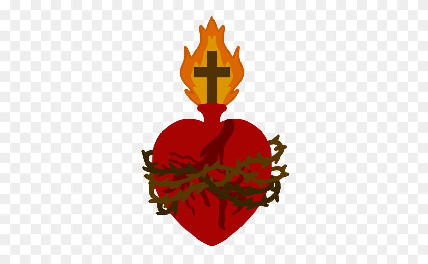 299x458 Sacred Heart - Sacred Heart Clip Art