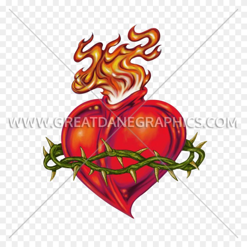 825x825 Sacred Heart Production Ready Artwork For T Shirt Printing - Sacred Heart Clip Art