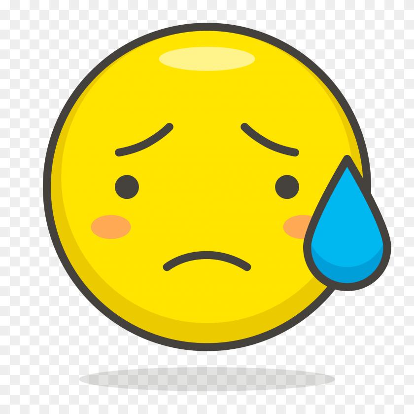 2000x2000 Sad But Relieved Face - Sad Emoji Clipart