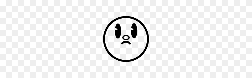 200x200 Sad Face With Open Eyes Icons Noun Project - Sad Eyes PNG