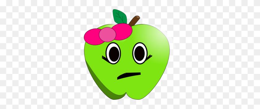 298x294 Sad Little Apple Clip Art - Sad Clipart
