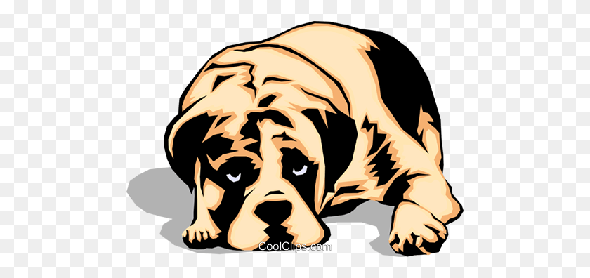480x336 Sad Looking Dog Royalty Free Vector Clip Art Illustration - Sad Dog Clipart