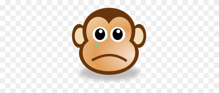 299x297 Sad Monkey Face Clip Art - Sad Emoji Clipart