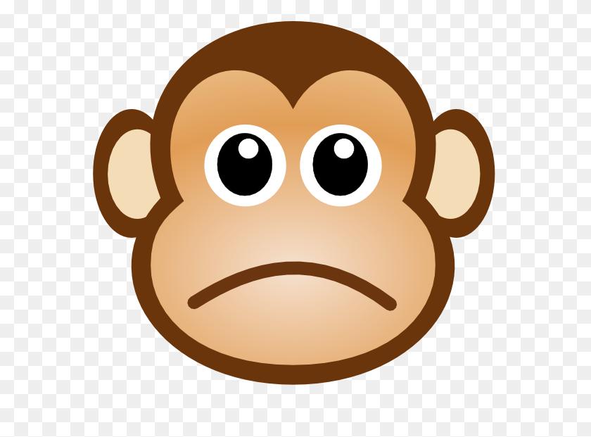 Sad Monkey Face Clip Art Free Image - Sad Smiley Face Clip Art