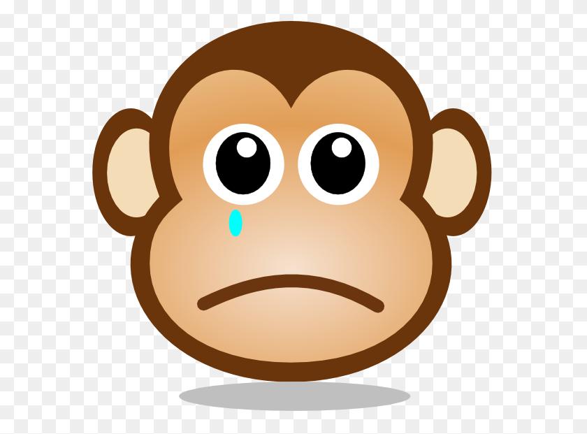 600x561 Sad Monkey Face Png, Clip Art For Web - Sad Cat Clipart