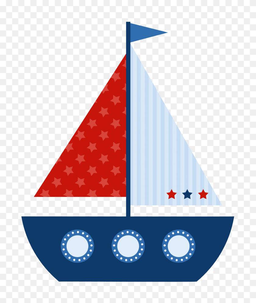 Sailboat Clip Art - Nautical Baby Shower Clipart