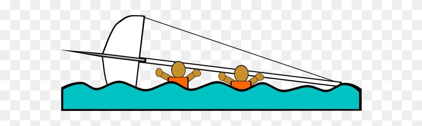 Sailing Capsized Rescue Illustrations Clip Art Free Vector - Rescue Clipart