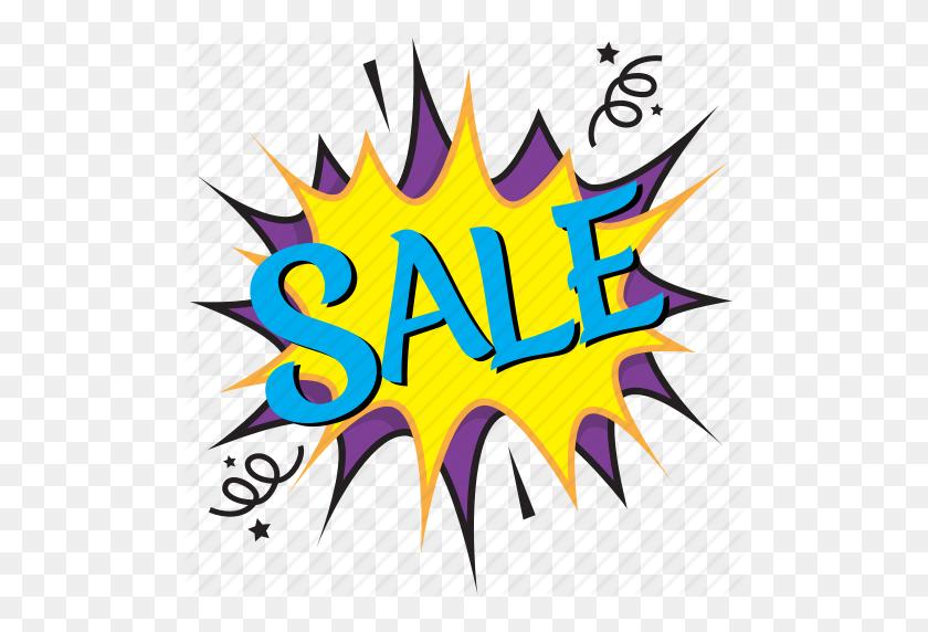 512x512 Sale, Sale Comic Bubble, Sale Idea Depiction, Sale Message Bubble - Pop Art PNG