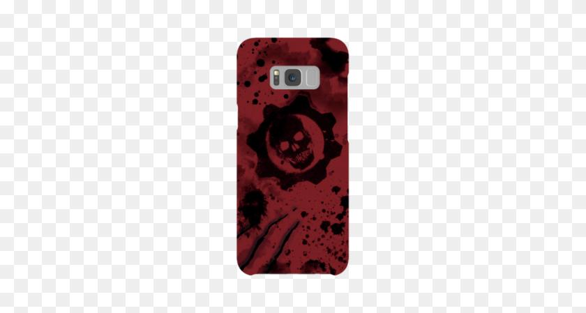 Samsung Galaxy Plus Snap Case In Gloss Gears Of War Crimson - Gears Of War PNG