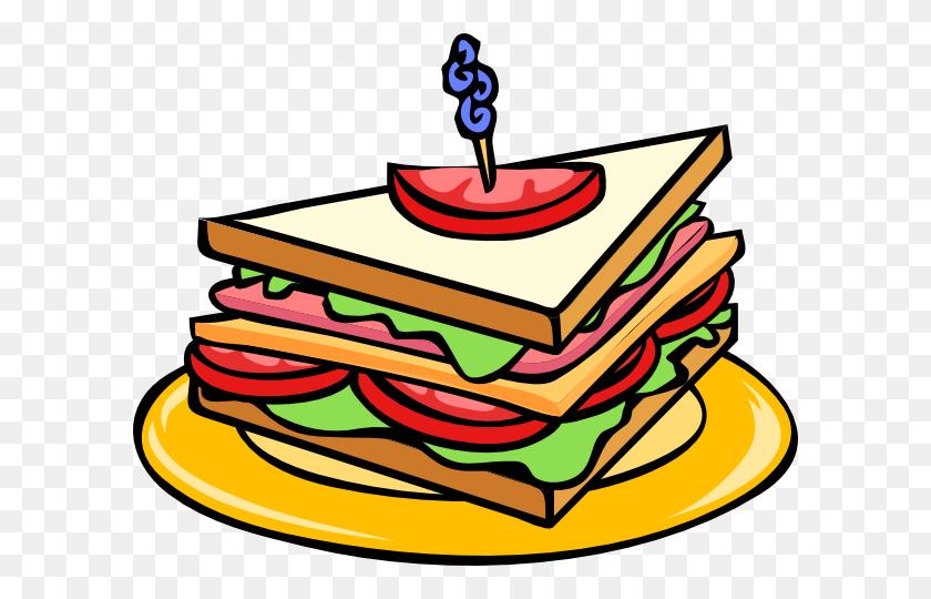 600x480 Sandwich Clip Art Black And White Free Clipart - Lunch Clipart Black And White