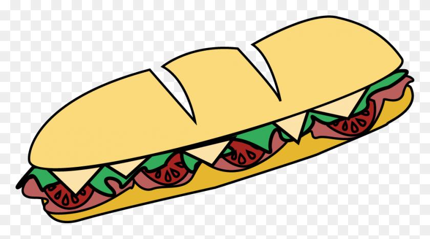 Sandwich Clipart Sub Italian, Sandwich Sub Italian Transparent - Meatball Sub Clipart
