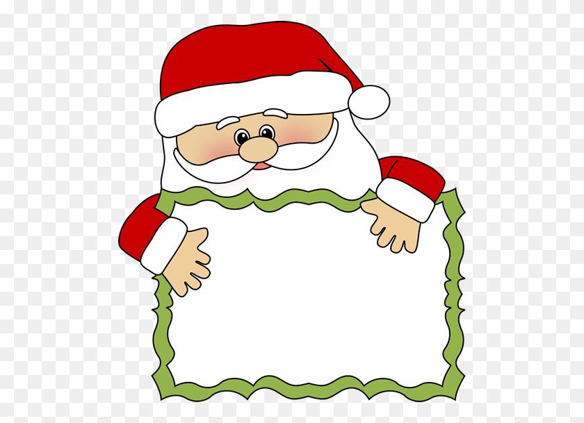 Santa Claus Border Clip Art Santa Clip Art Santa Sign Clip Art - Science Clipart