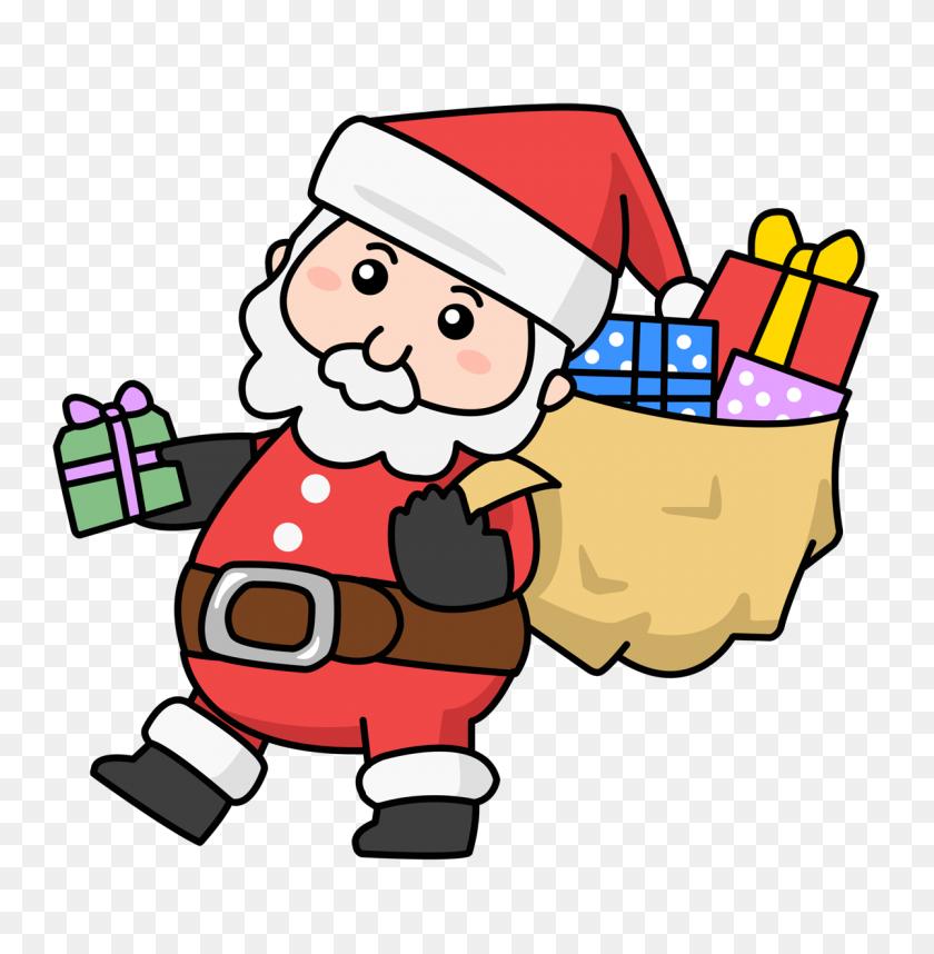 Santa Claus Clip Art Images Black And White - Black Santa Claus Clipart