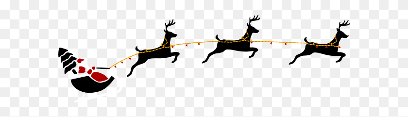 Santa Claus With Reindeers Clipart Clip Art Images - Santa And Reindeer Clipart