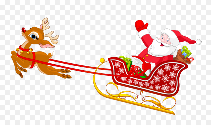 Santa Claus With Reindeers Clipart Clip Art Images - Black Santa Claus Clipart