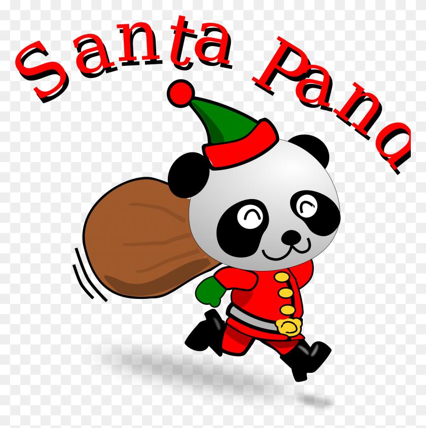 Santa Pandas Clipart Santa Pandas Clip Art Images - Santa Sack Clipart