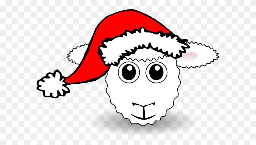 Santa Sheep Clip Arts Download - Sheep Clipart