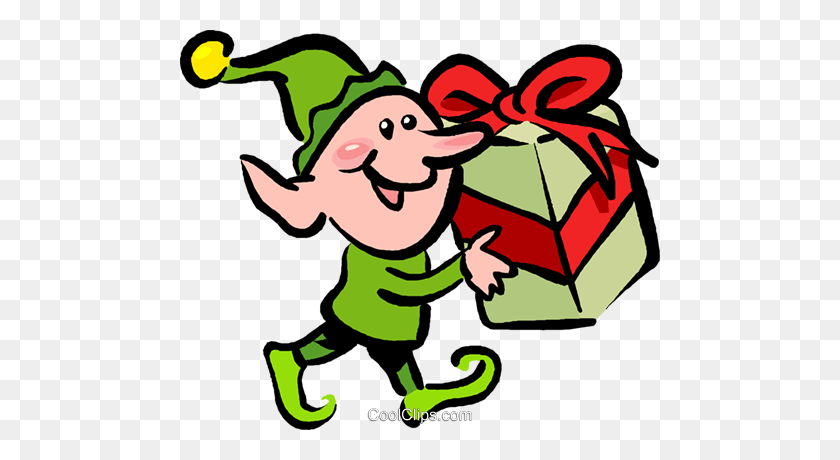 Santa's Elves And Helpers Royalty Free Vector Clip Art - Santas Elves Clipart