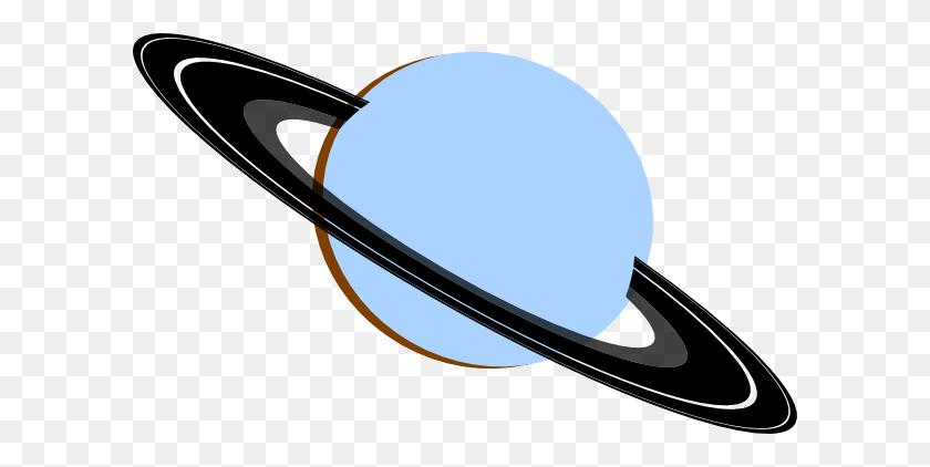 Saturn Blue Gray Black Brown Clip Art - Saturn Clipart
