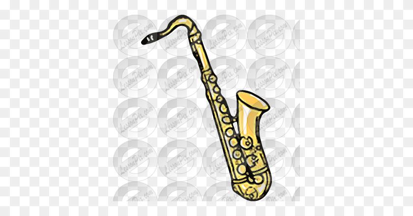 Sax Picture For Classroom Therapy Use - Sax Clip