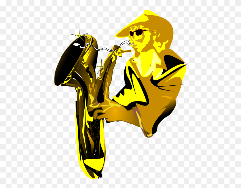 Sax Player Clip Art - Sax Clip