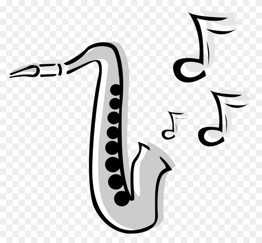 999x921 Saxophone Clip - Rx Clipart