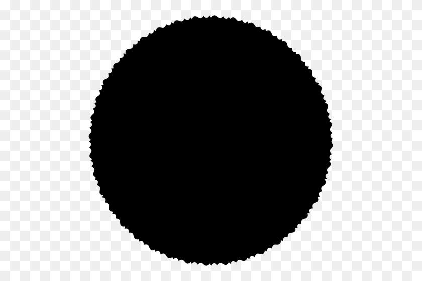 Scallop Black Circle Vector Clip Art - Scallop Clipart