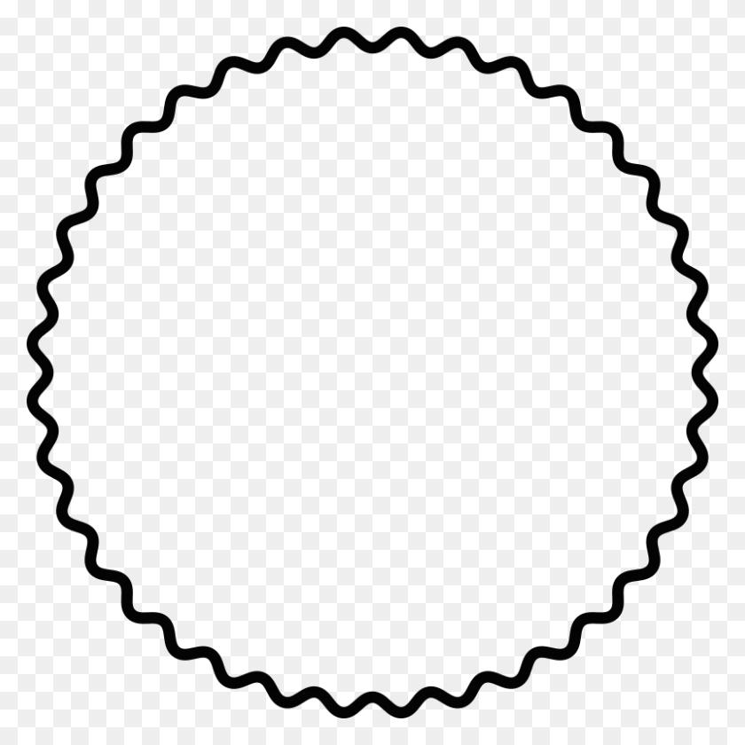 Scalloped Circle Clip Art Free - Scalloped Circle Clipart