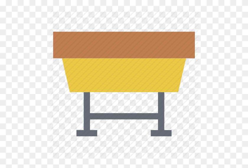 School Bench, School Desk, School Furniture, Seat, Table Icon - School Desk PNG