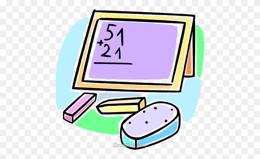 School Blackboard Royalty Free Vector Clip Art Illustration - School Chalkboard Clipart