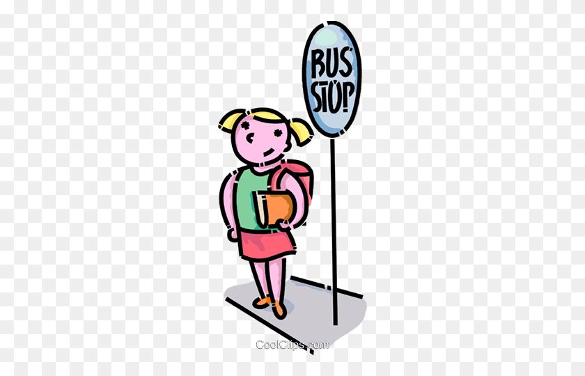 School Girl Waiting - School Girl Clipart