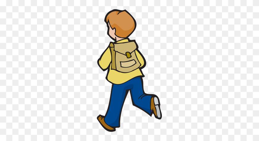 School Girl Wearing A Backpack Snail Mai - School Girl Clipart