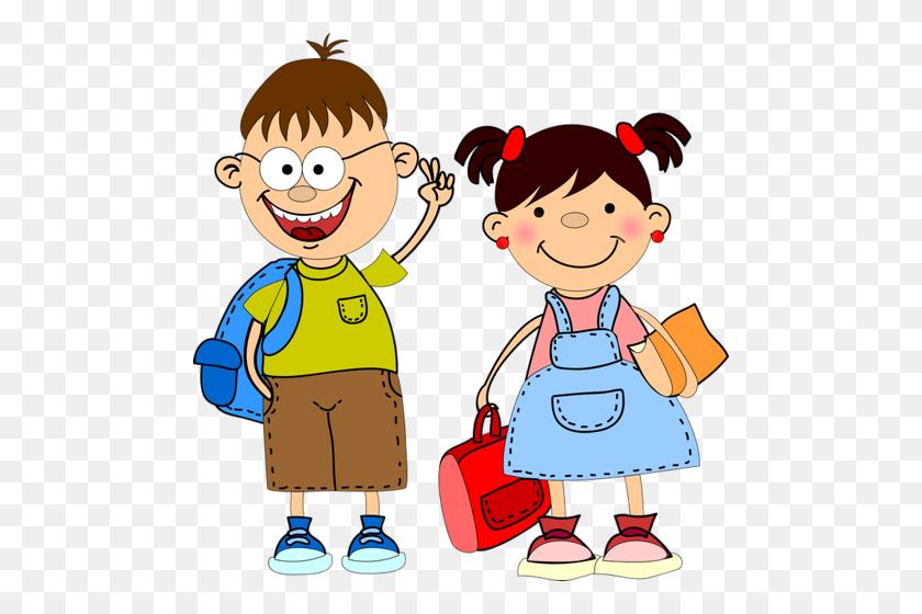 School Kids Clip Art Png Png Image - School Kids Clipart
