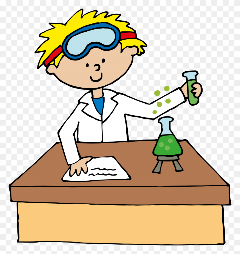 3317x3532 Scientist Kids Cute Clipart Science Kids Science Clip Art - Free Clipart Elementary Teachers