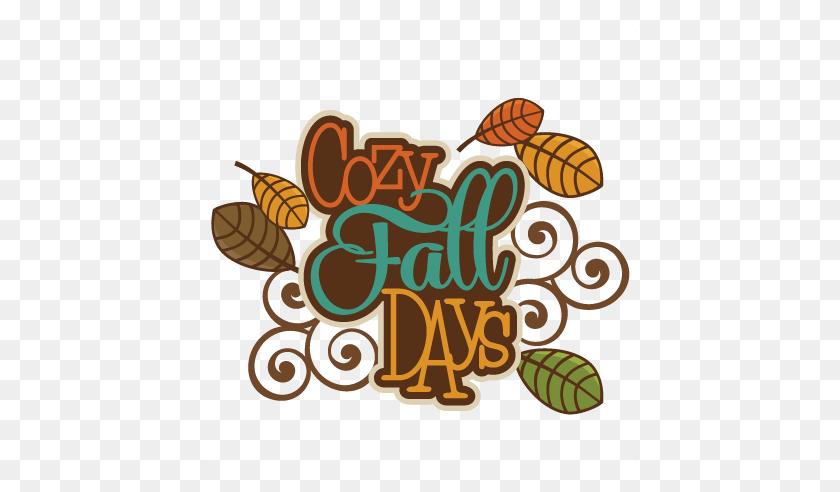Scrapbooking Fall Titles Cozy Fall Days Autumn - Cute Fall Clipart