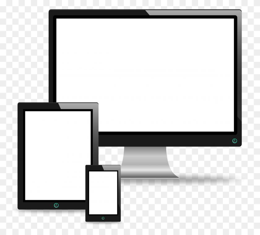 Screen Clipart Computer Phone - Screen Clipart